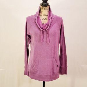 GAIAM Purple Cowl Neck tunic size XS